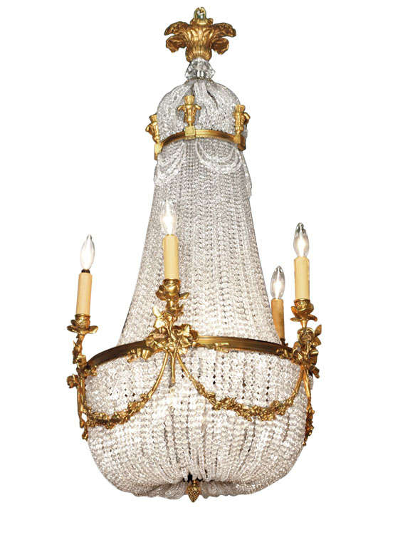 Antique french empire chandelier crystal and bronze royal antiques antique french empire chandelier crystal and bronze aloadofball